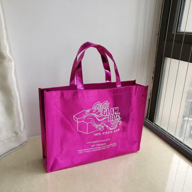 Cadeau Rose Boutique 500 Logo tout Laser Gros Fourre Sacs En Non Société Sac Tissé Imprimé Eco Promotionnel Personnalisé Pcs Annonces lot nqZY65wX