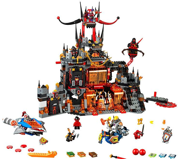 Image 2 - Compatible with Legoing 70323 Nexion knights  1237Pcs Jestro Volcano Lair Figure building blocks bricks toys for children-in Blocks from Toys & Hobbies