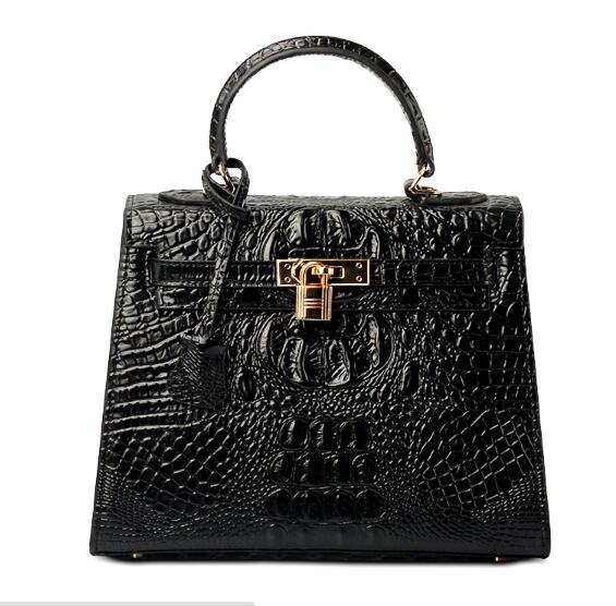 2016 Luxury Crocodile Pattern Platinum Bag Women Real Leather Handbags Genuine Leather Shoulder Crossbody Bags Famous Brand