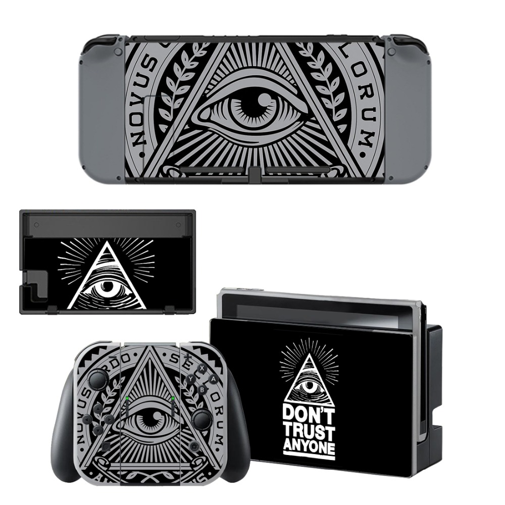 Nintend Switch Vinyl Skins Sticker For Nintendo Switch Console and Controller Skin Set For Eye of Providence in Stickers from Consumer Electronics