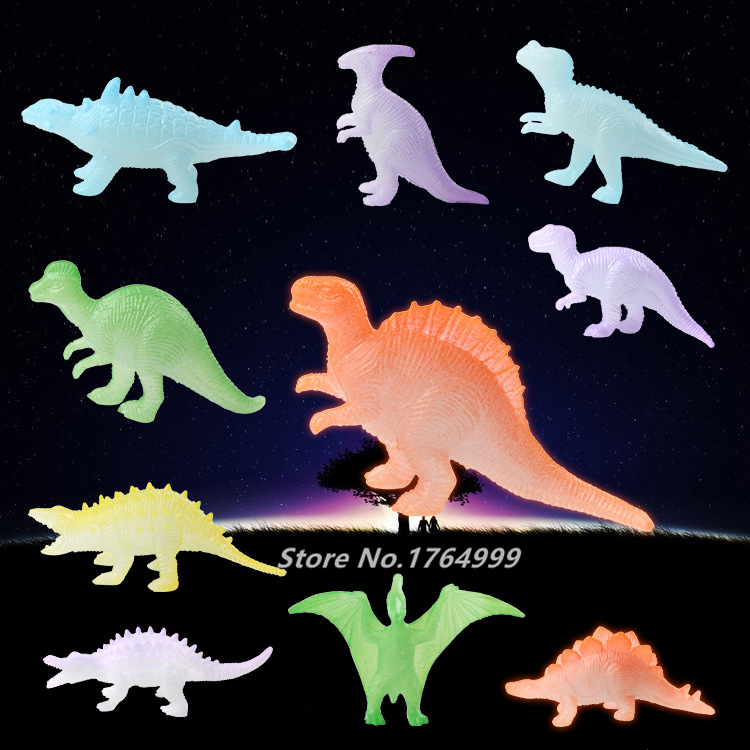 10pcs/set Glow in the Dark Toys Night Light Noctilucent Dinosaur Figure Birthday
