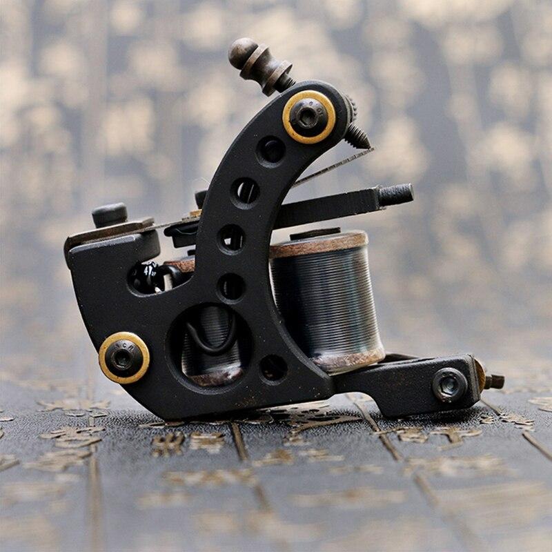 Machine de tatouage de bobine de haute qualité 12 bobines d'enveloppe cadre de tatouages noirs de pistolet de tatouage pour l'approvisionnement d'équipement de Shader de revêtement