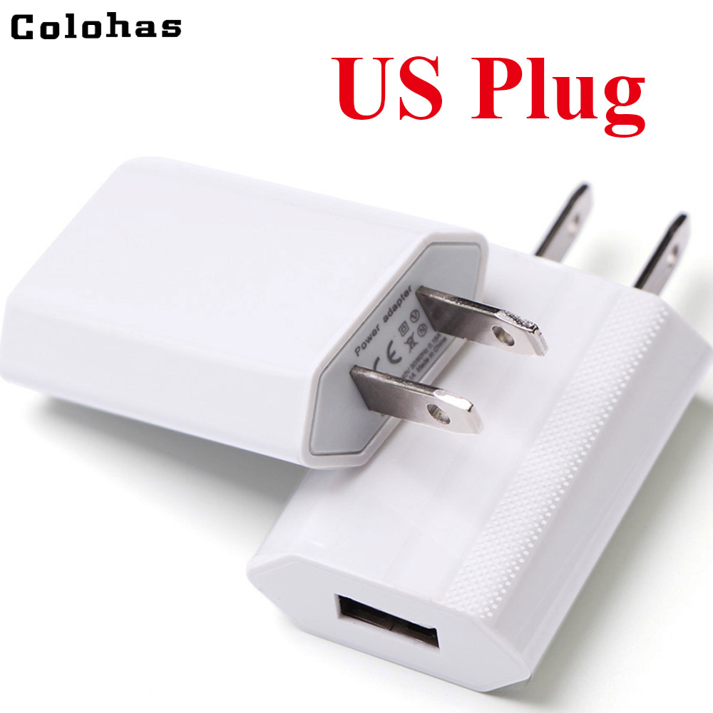 Mobile Phone Chargers Mobile Phone Accessories High Quality Colorful Hot Usa Canada Eu Pug Usb Ac Travel Wall Charging Charger Power Adapter For Apple Iphone 5 5s 4 4s 3gs 4g