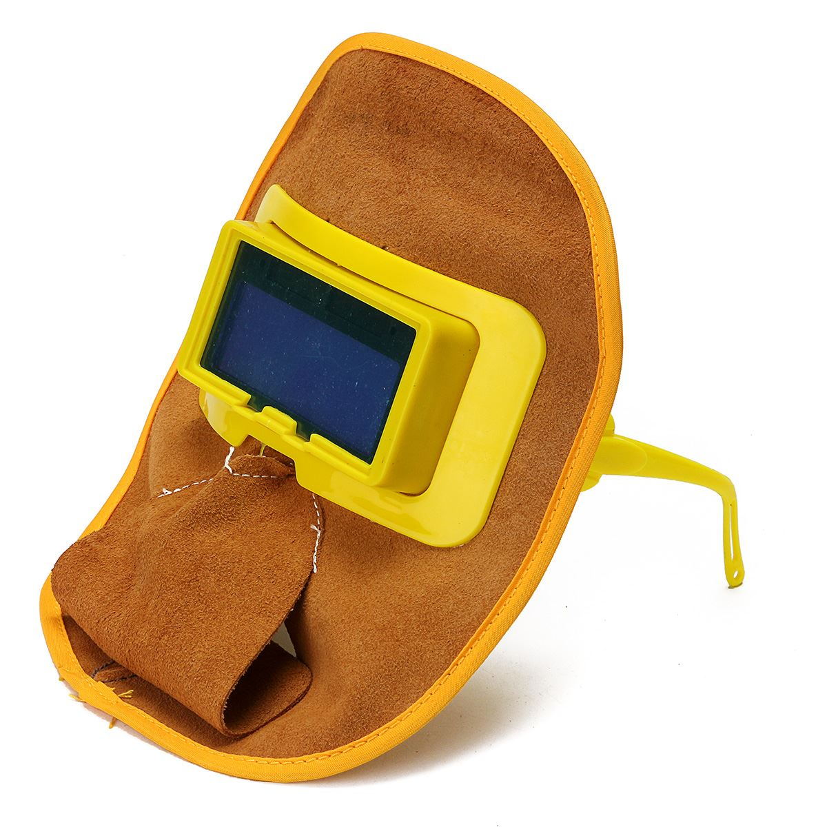 NEW Protable Leather Welding Solar Auto Darkening Filter Lens Hood Helmet Mask safety protective mask  цены