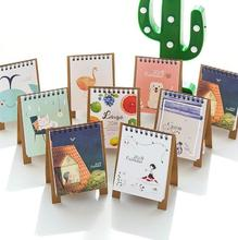 New Arrived 2018 Fresh Style DIY Animals Mini Desktop Paper Calendar dual Daily Scheduler Table Planner Yearly Agenda Organizer