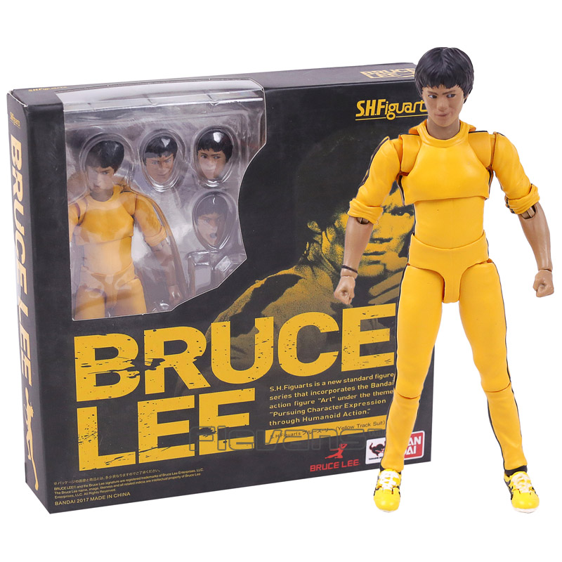 SHF S.H.Figuarts Bruce Lee Yellow Clothes Ver. 75th Anniversary Edition PVC Action Figure Collectible Model Toy 14cm shfiguarts batman injustice ver pvc action figure collectible model toy 16cm kt1840