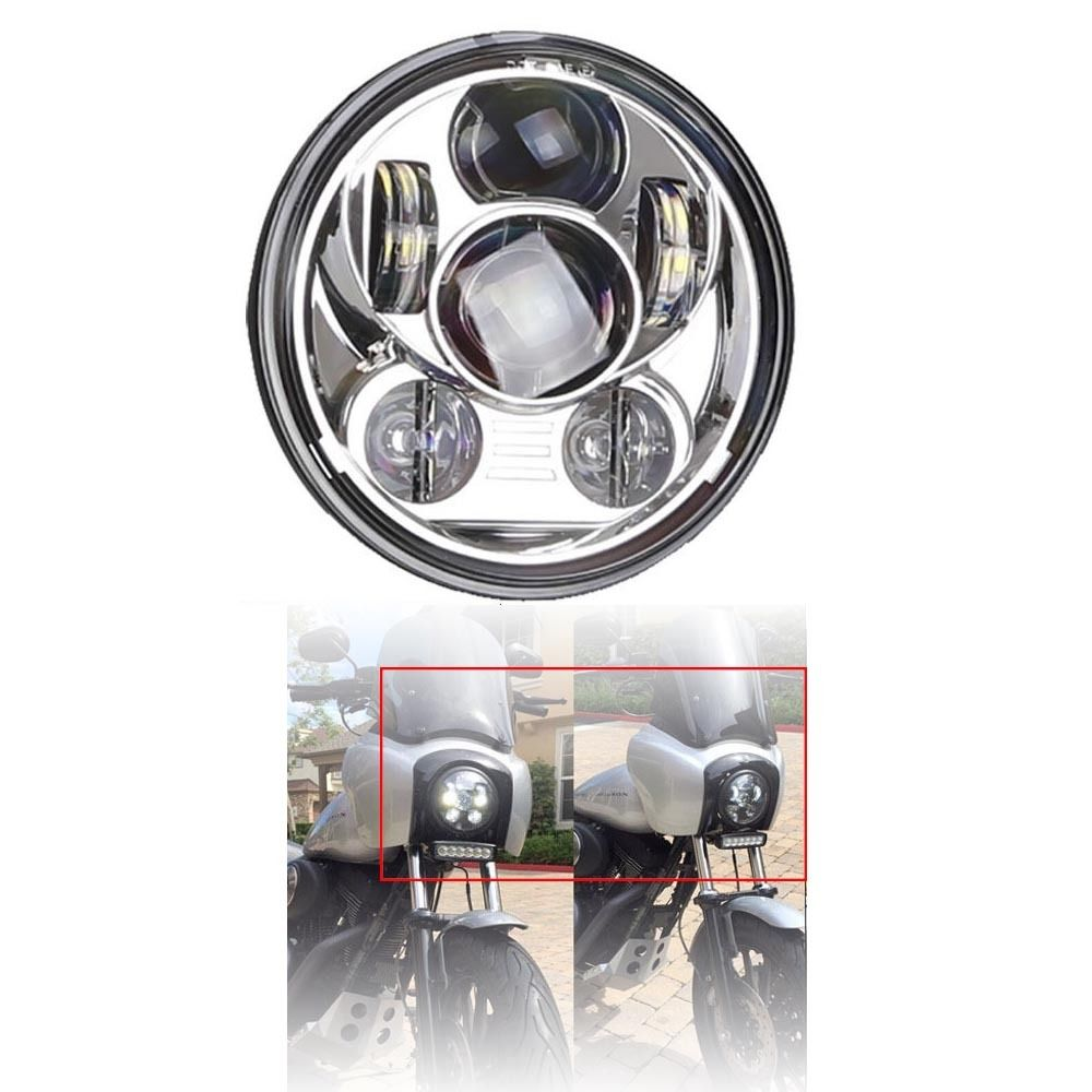 1 pc J232 chrome E-mark DOT 5 3/4 45W led hi/low headlights fit Harley-Davidson roxy шорты dot dot dot 9 j bdsh kvj6