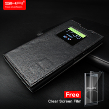 SIKAI 1:1 Original Leather Case For Blackberry Priv Case Smart Magnetic Cover Flip Leather Case For Blackberry Priv case 5.4'