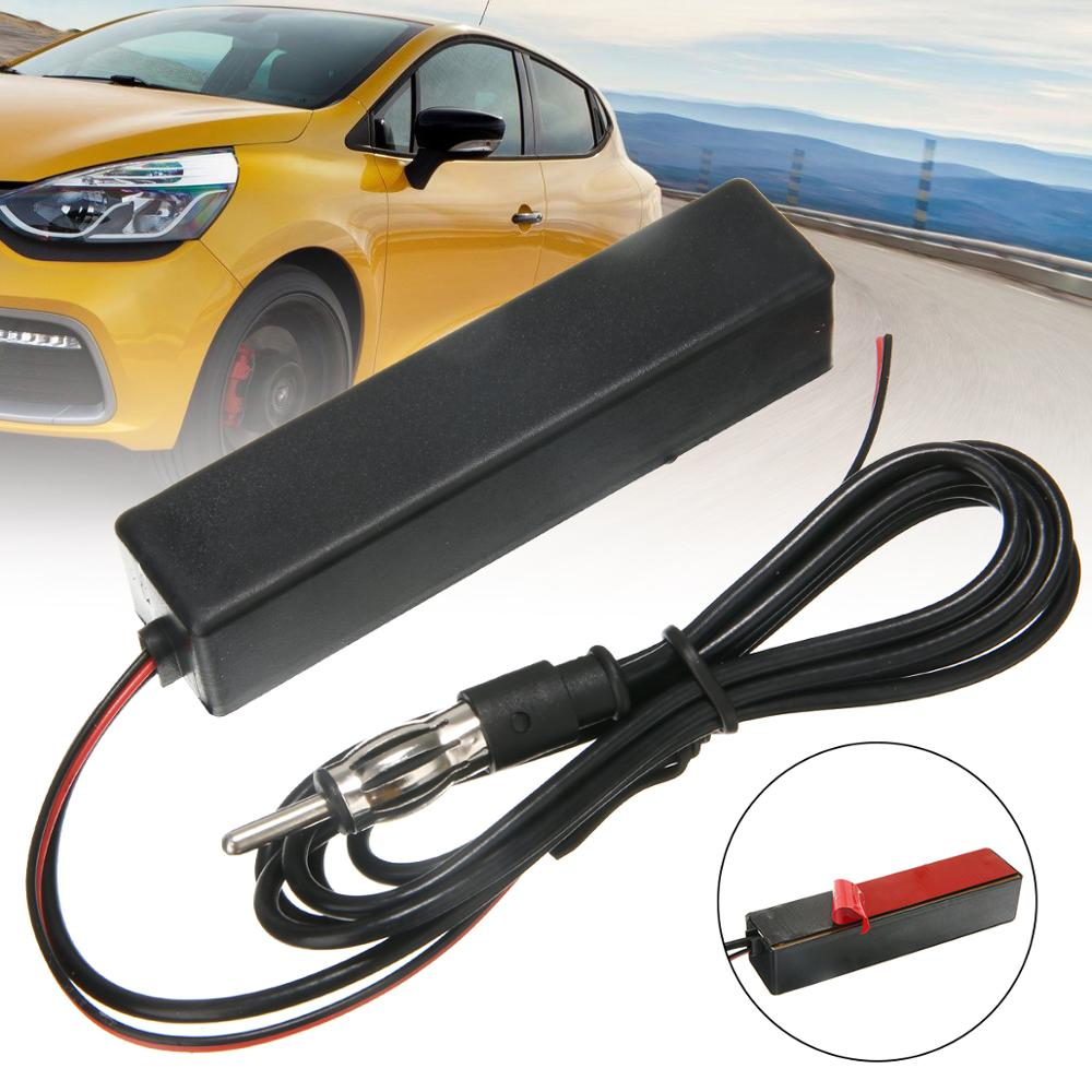 1pcs 12V Hidden Amplified Antenna Universal Car Electronic Stereo AM FM Radio Hidden Amplified Antenna Aerial-in Aerials from Automobiles & Motorcycles
