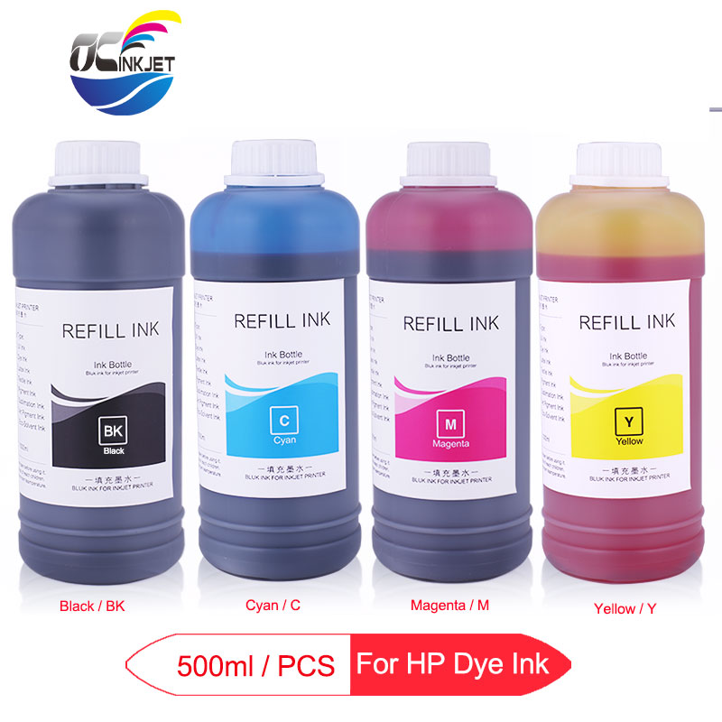 500ml/Bottle Refill Dye Ink For HP 178 364 564 655 670 711 920 934 935 950 951 952 953 954 955 970 971 Printer Ink For HP
