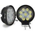 2 unids Super brillante 4 pulgadas de luz de trabajo 27 w off-road/Camión/Remolque/SUV/Off road/Barco/ATV/4X4/lampflood tractor del trabajo del LED
