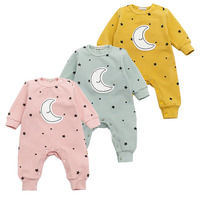 Baby Girls Long Sleeve Warm Romper Jumpsuit Playsuit Moon Outfits Baby Princess One Piece Cute Infant