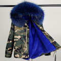Military Parka 100%  Real Raccoon Fur Collar Winter Coats Ladies Long Sleeve Faux Fur Lined Plus Size Outerwear Parkas S-2XL