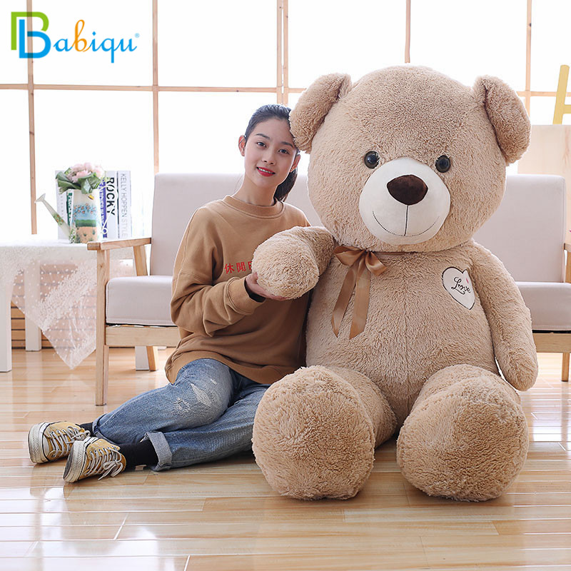 Babiqu 1pc 90cm Large Teddy Bear Plush Toy Cute Staffed Soft Bear Wear Bowknot Kids Doll Huge Birthday Gift for Girlfriend Baby the lovely bow bear doll teddy bear hug bear plush toy doll birthday gift blue bear about 120cm