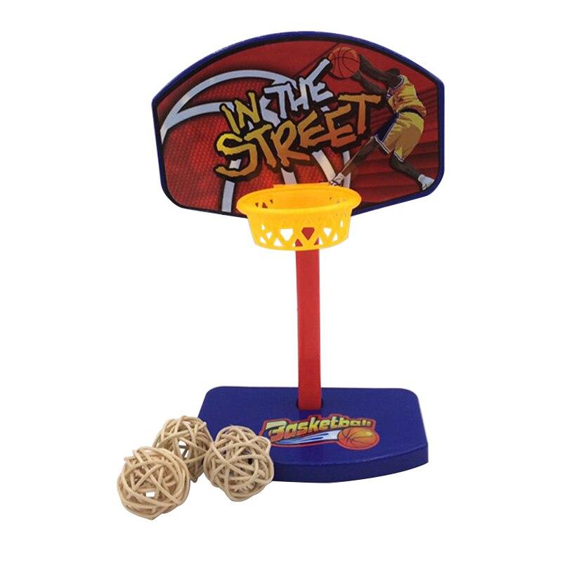 Parrot Toys 3Pcs Pet Birds Chew Toy Parakeet Balls Birdie Basketball Hoop Props Pet Parrot Brinque
