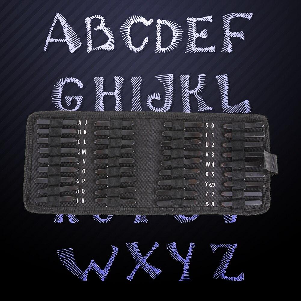 36pcs Set Carbon Steel Punch Set Alphabet Letter Number Stamp Set Metal Leather Craft Tool