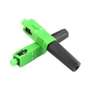 Image 2 - 100 ADET FTTH hızlı bağlantı Gömülü SC APC Fiber Optik Hızlı Bağlantı tek modlu SCAPC fiber optik konnektör Ücretsiz kargo