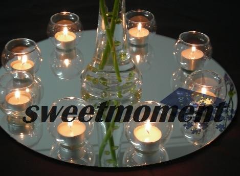 Center Pieces Round Mirror Plate for wedding good quality center ...