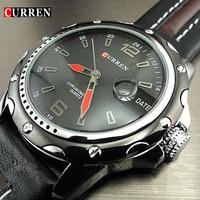 New fashion curren brand male clock male hand date black brown leather straps mens quartz wrist.jpg 200x200