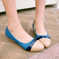 women shoes spring sweet quality footwear fashion brand mixed color appliques wedges high heel shoes pumps big size 34-43 K1866