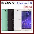 Оригинальный Разблокирована Sony Xperia C3 D2533 S55U 8 ГБ ROM + 1 ГБ RAM 8MP 5.5 Дюймов Dual Sim 2500 мАч LTE Android Смартфон
