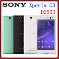 Abierto original sony xperia c3 d2533 s55u 8 gb rom + 1 gb ram 8mp lte 5.5 pulgadas dual sim 2500 mah android smartphone