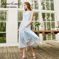 Vero Moda Neue frauen Floral Sleeveless 100% Baumwolle Zerzauste Homewear Kleid | 31917A518