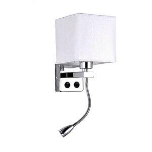 Image 5 - LED Kumaş Başucu Duvar Lambası Anahtarı ve Esnek Okuma Lambası Başlık Lambası Otel Odası Başucu Okuma Duvar Lambası NR51