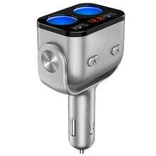 DC12-24V автомобиля ЖК-дисплей разветвитель прикуривателя с двумя портами USB Порты и разъёмы Мощность адаптер QC3.0 быстро Зарядное устройство розетка с Светодиодный индикатор