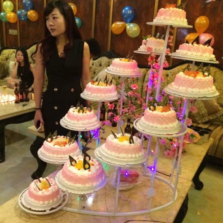 12 niveaux en métal gâteau stands mariage cupcake stand gâteau barware outils partie approvisionnement mariage décoration