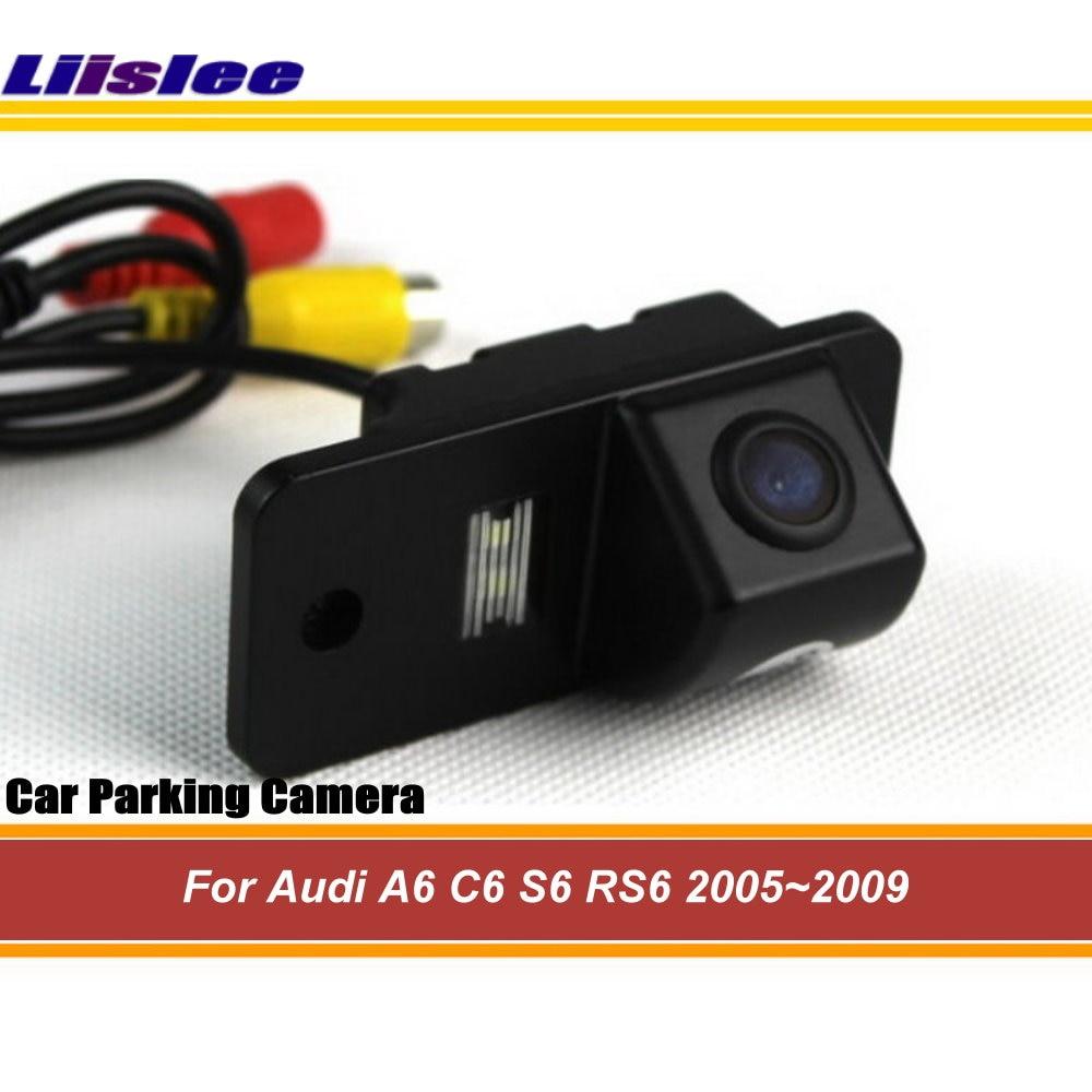 Liislee камера заднего вида для Audi A6 C6 S6 RS6 2005 ~ 2009/HD камера заднего вида/ночное видение/парковочная автомобильная камера