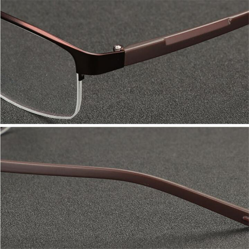 Image 3 - 0  0.5  0.75 To  4 Half Frame Photochromism Myopia Glasses Men Metal Square Sun Discoloration Short sighted Eyeglasses Women-in Men's Sunglasses from Apparel Accessories on AliExpress