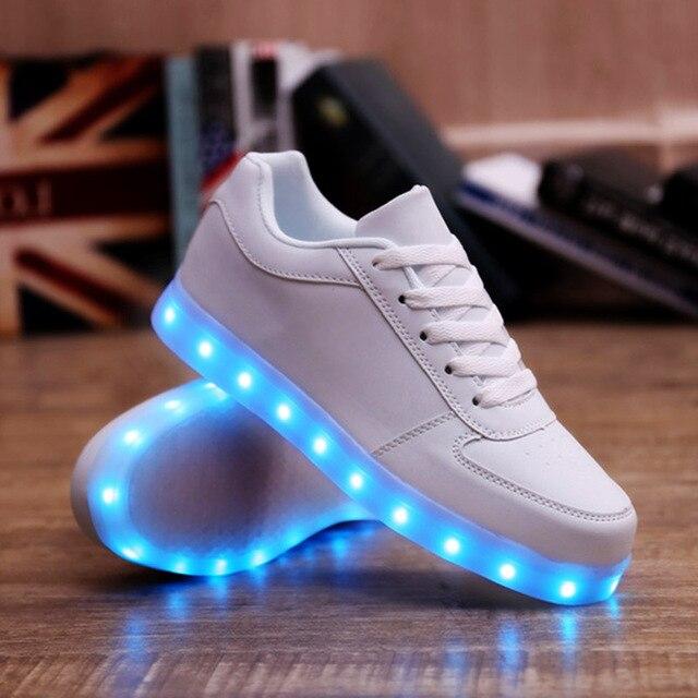 KRIATIV 7 color light luminous sneakers Usb Charging led shoes infant led Slippers Kids light up shoes luminous Sneakers