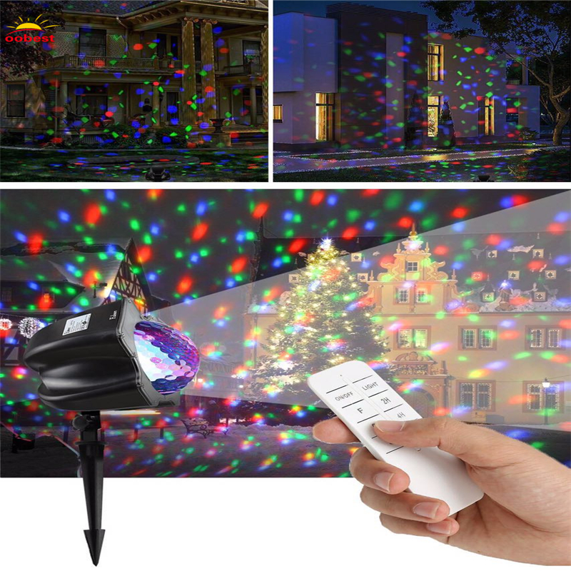 Christmas laser projector 7 Patterns Star Lights Showers effect RF Remote motion waterproof IP65 Outdoor Garden decorative lamp outdoor garden decoration waterproof elf christmas lights star laser projector showers lantern flashlight stage light