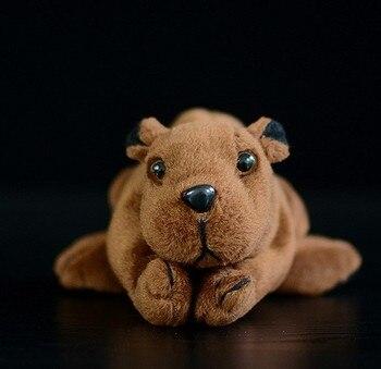 цена на Free shiping new 14cm small beaver doll simulation beaver plush toy for baby children gift