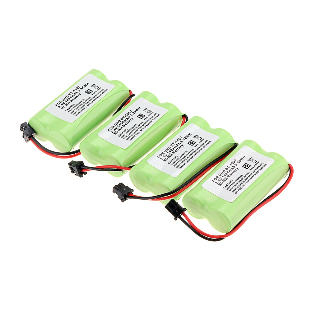 4-Pack 1400mAh 2.4v Home Use Cordless Phone Battery for Uniden BT-1007 BT1007 BT1015