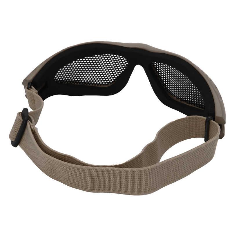 Открытый глаз Защитные удобные страйкбол безопасности тактические очки анти туман с металлической сеткой 3 цвета