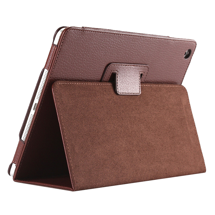 Business Flip Litchi Leather Case Smart Stand Holder For Apple ipad2 3 4 Magnetic Auto Wake Up Sleep Cover(Brown) zoyu for apple ipad air1 2 magnetic auto wake up sleep flip leather case for new ipad 5 6 cover with smart stand holder
