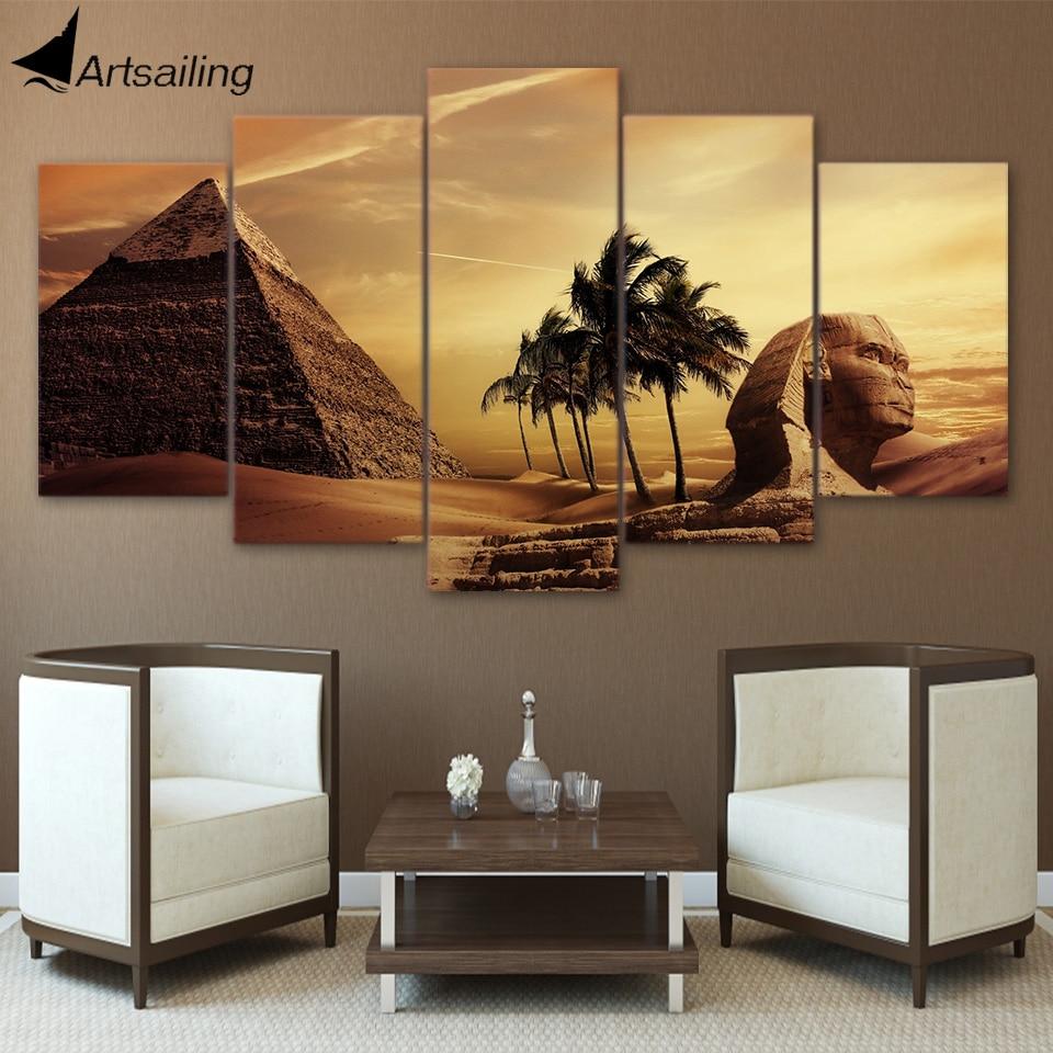 HD Gedruckt 5 Stück Leinwand Kunst Ägyptischen Pyramiden Sphinx ...