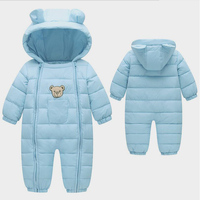 BibiCola winter baby boys rompers clothing cotton thermal toddler girl clothes infant bebe rompers Baby newborn coveralls