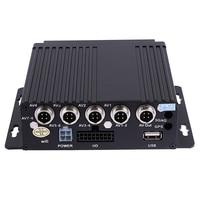 1pcs Realtime Video/Audio Recorder SD Card Auto Car Bus Mobile DVR 4CH Input Digital Video Recorder up to 128GB Car Camera DVRS