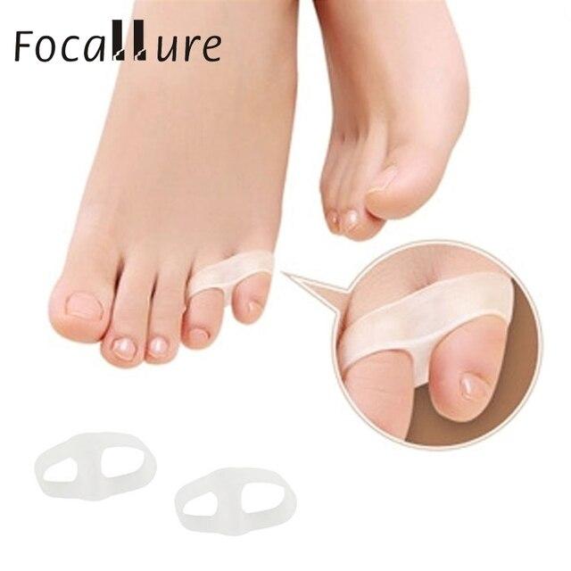 2017 1 par de alisadores de dedos de los dedos del pie Gel Bunion Toe estiradores de silicona lavable reutilizable separador de dedos del pie drop ship 17nov2