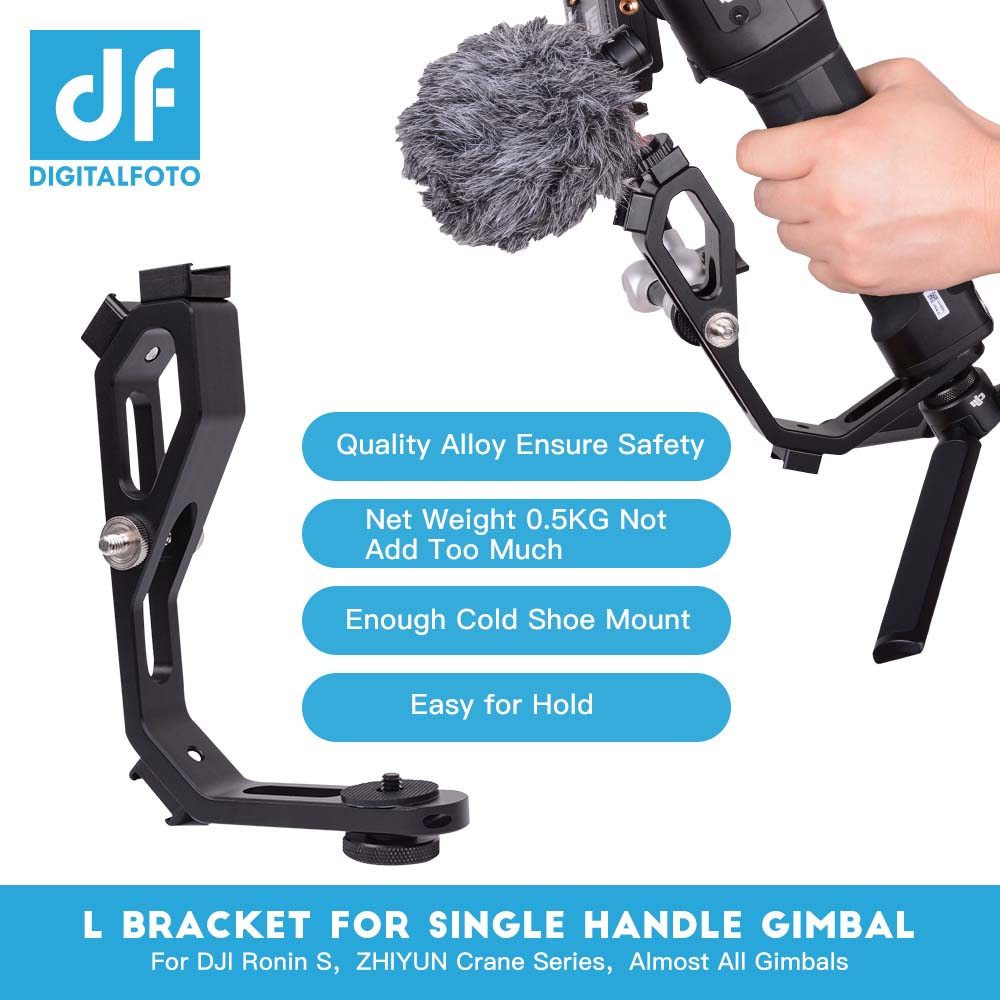 L bracket with 3 hot shoe mount Handle margic Arm For zhiyun Crane 2 DJI RONIN S MOZA Aircross mounting LED Microphone Monitor цена