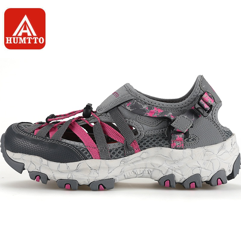 HUMTTO Upstream Shoe Women Aqua Shoes Breathable Wading Fast drying Summer Outdoor Beach Female Rubber Mesh
