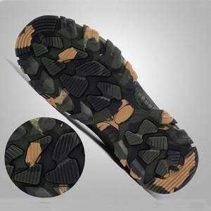 حذاء برقبة للعمل البناء الرجال في الهواء الطلق غطاء صلب لأصبع القدم أحذية الرجال التمويه ثقب واقية عالية الجودة أحذية أمان زائد حجم