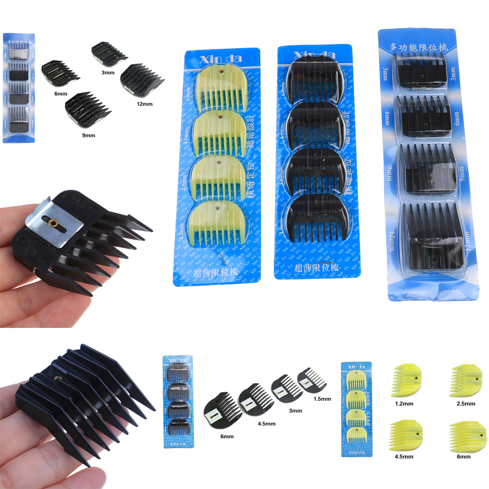 4 шт./компл. Концевая расческа Стрижка волос триммер клипер насадка руководство парикмахерские инструменты для укладки набор|Расчески|   | АлиЭкспресс