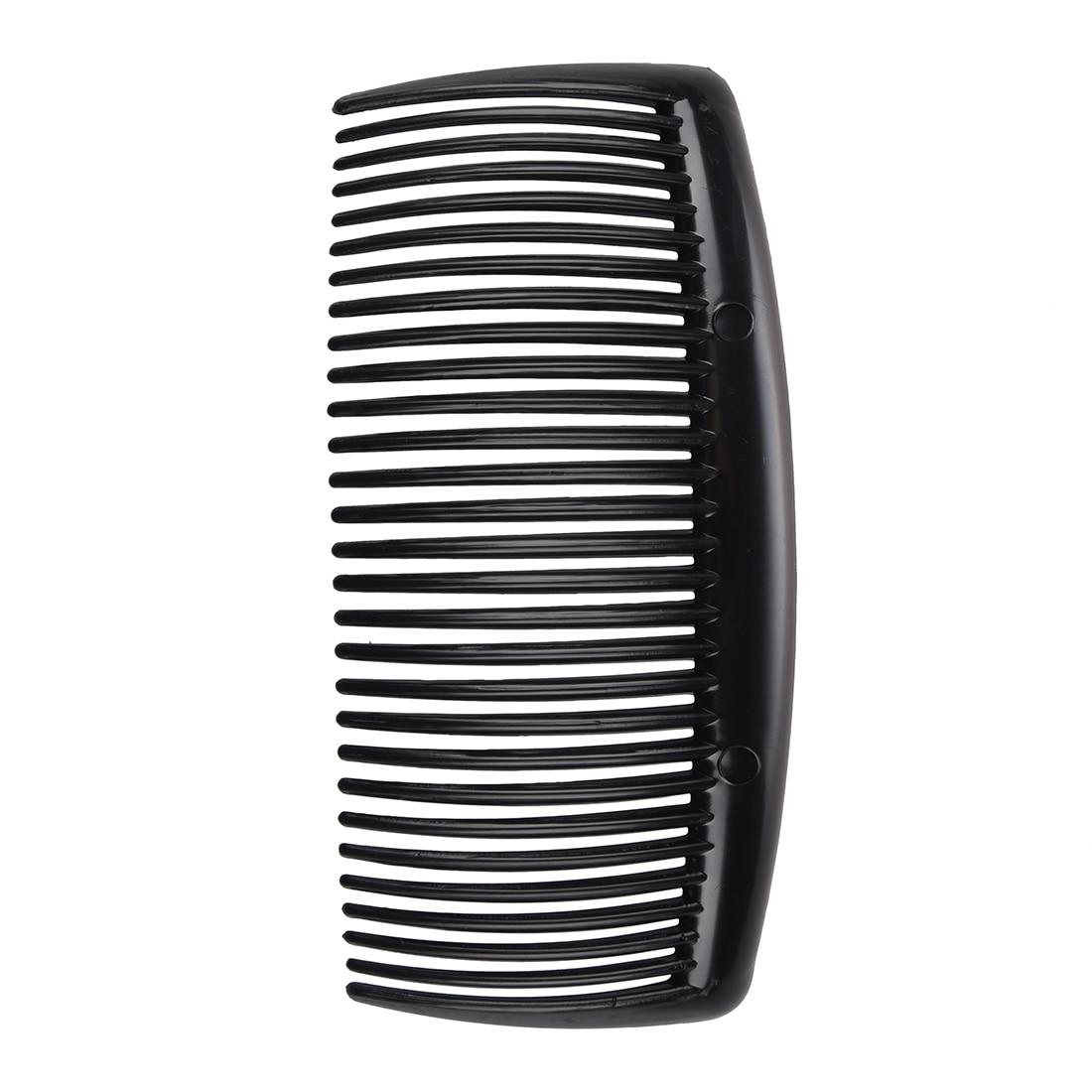 2 Pcs Black Plastic Comb Hair Clip Clamp For Ladies