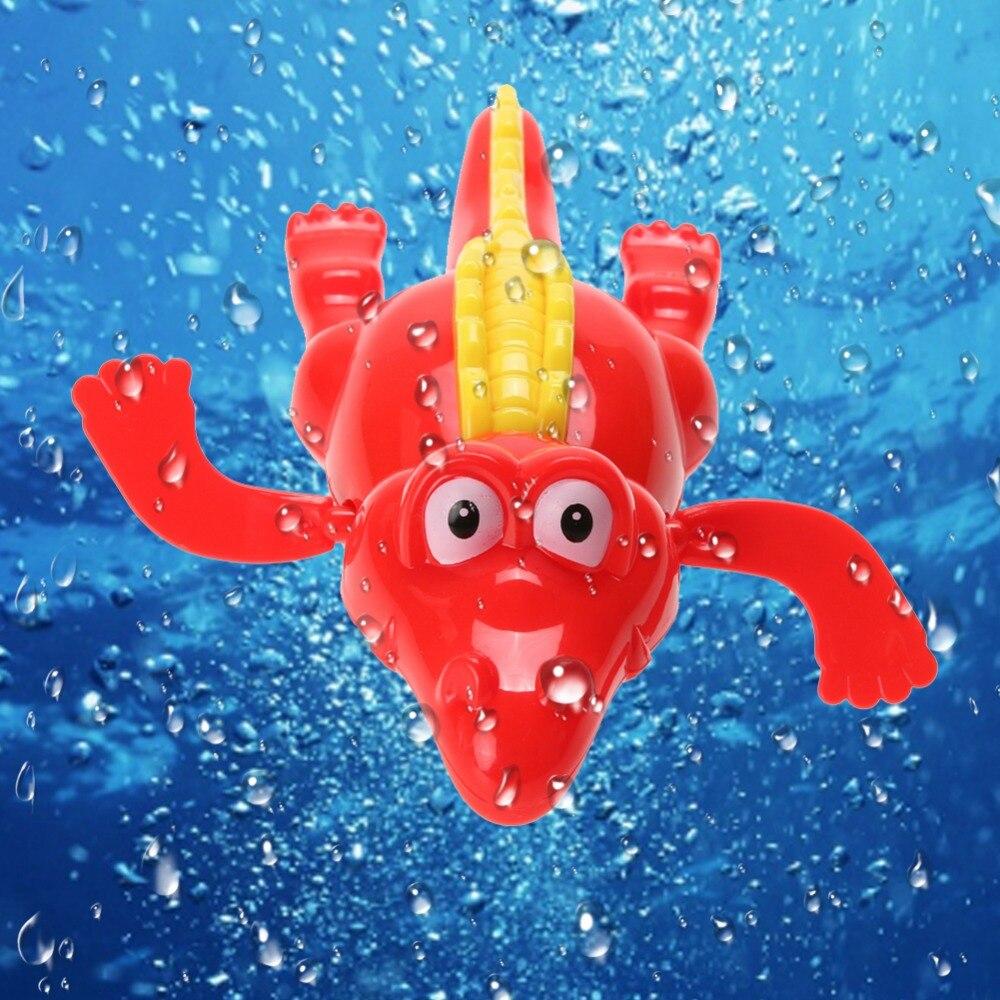 Baby Kids Bath Swimming Animal font b Toys b font Fun Shower Crocodile Wind Up Clockwork