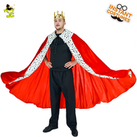 Mens Luxury King Cape Noble king costumes prince cosplay Christmas Red Cape Regal King Costumes
