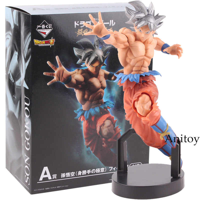 Figura de ação Dragon Ball SUPER Ichiban Kuji UM Instinto de Son Goku Ultra Son Goku Figura PVC Figuras Collectible Toy Modelo